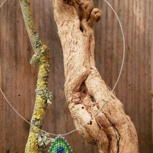 Collier Triangle Tissage Camaieu Vert et Bleu – Taille S